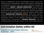 Civil Aviation Safety within NZ