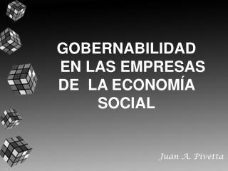 GOBERNABILIDAD EN LAS EMPRESAS DE LA ECONOMÍA SOCIAL