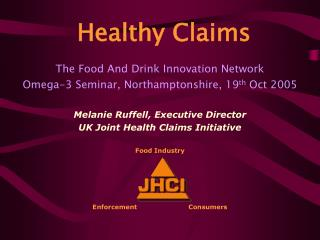 The Food And Drink Innovation Network Omega-3 Seminar, Northamptonshire, 19 th Oct 2005