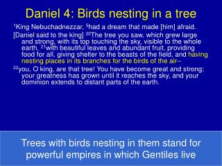 Daniel 4: Birds nesting in a tree