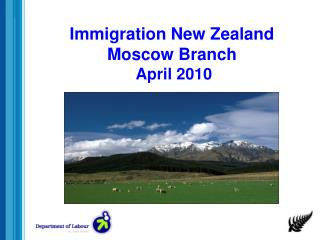Immigration New Zealand Moscow Branch  April 2010
