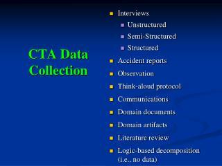 CTA Data Collection