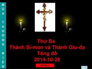 Thứ Ba Thánh Si-mon và Thánh Giu-đa Tông đồ 2014-10-28