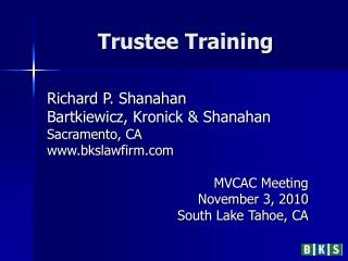 Trustee Training