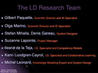 The LD Research Team