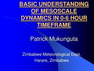 BASIC UNDERSTANDING OF MESOSCALE DYNAMICS IN 0-6 HOUR TIMEFRAME Patrick Mukunguta
