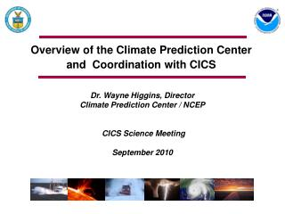 Overview of the Climate Prediction Center and Coordination with CICS
