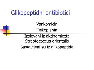 Glikopeptidni antibiotici