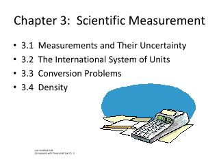 Chapter 3:  Scientific Measurement