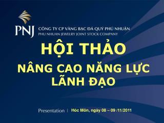 Hóc Môn, ngày 08 – 09 /11/2011