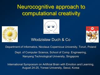 Neurocognitive approach to  computational creativity
