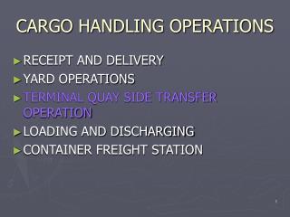 CARGO HANDLING OPERATIONS