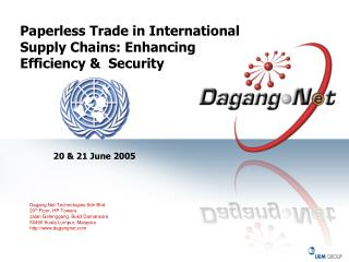 Paperless Trade in International Supply Chains: Enhancing Efficiency &  Security