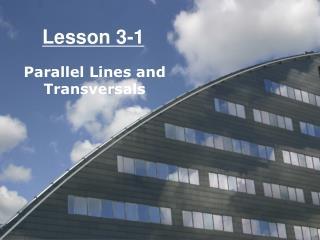 Lesson 3-1