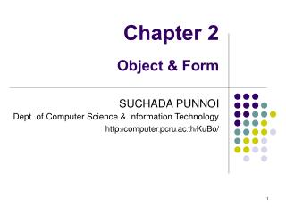 Chapter 2 Object & Form