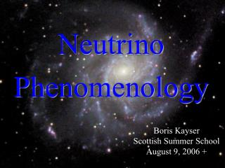 Neutrino Phenomenology