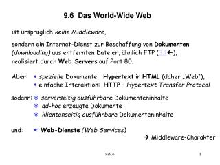 9.6  Das World-Wide Web
