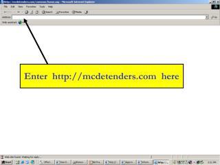Enter mcdetenders here