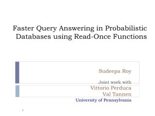 Databases for Pennsylvania