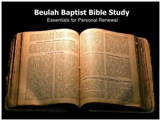 Beulah Baptist Bible Study