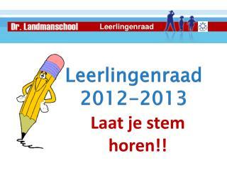 Leerlingenraad 2012-2013