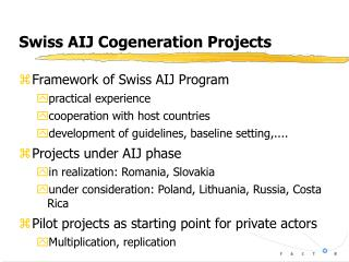 Swiss AIJ Cogeneration Projects