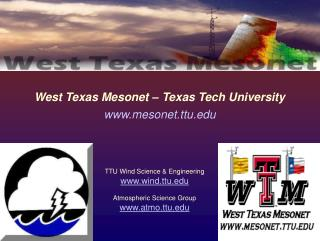 West Texas Mesonet – Texas Tech University