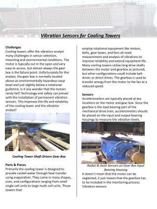 Vibration Sensors for Cooling Towers