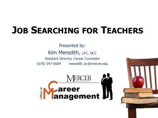 Job Searching for Teachers