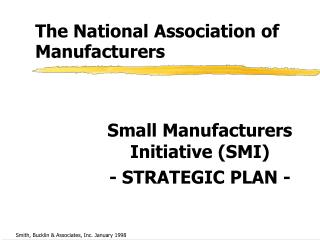 The National Association of Manufacturers