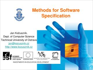 Methods for Software Specification
