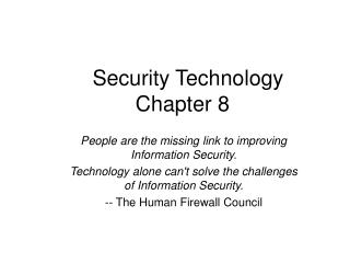 Security Technology Chapter 8