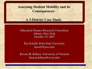 Assessing Student Mobility and its Consequences:   A 3-District Case Study