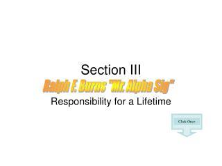 Section III