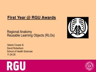 First Year @ RGU Awards
