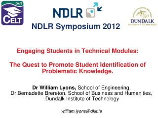 Dr William Lyons, School of Engineering,