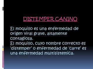 DISTEMPER CANINO