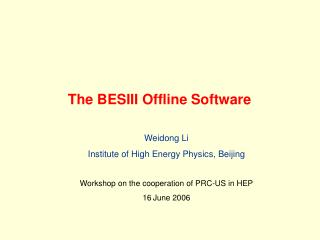 The BESIII Offline Software