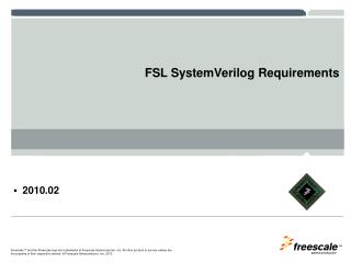 FSL SystemVerilog Requirements