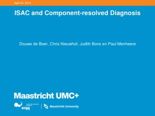 ISAC and Component-resolved Diagnosis