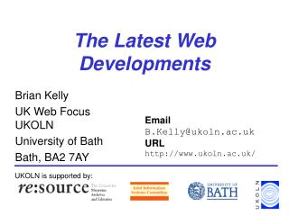 The Latest Web Developments