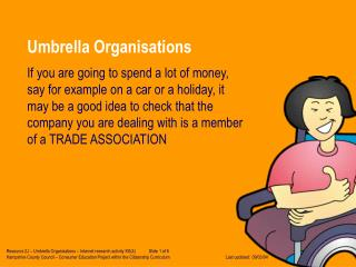 Umbrella Organisations