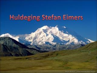 Huldeging Stefan Eimers