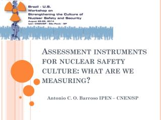 Assessment instruments for nuclear safety culture: what are we measuring?