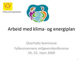 Arbeid med klima- og energiplan