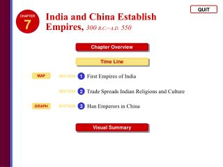 India and China Establish  Empires,  300  B.C. – A.D.  550