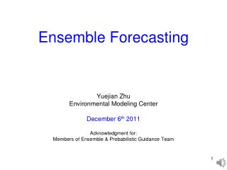 Ensemble Forecasting