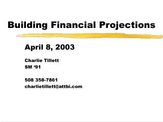 Building Financial Projections