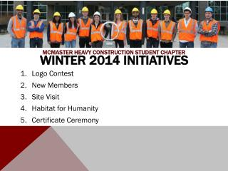 Winter 2014 Initiatives
