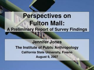 Perspectives on  Fulton Mall: A Preliminary Report of Survey Findings